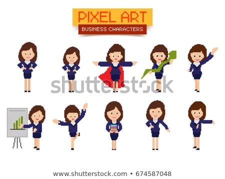 Secretary Office Worker, Confident Woman Pixel Stock photo © robuart
