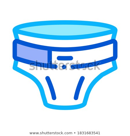 Diaper With Belt Icon Vector Outline Illustration Stock photo © pikepicture