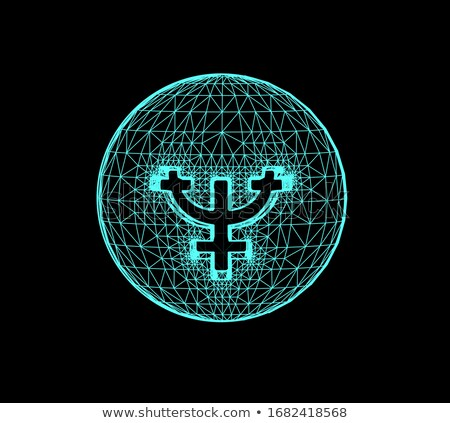 Neptune, the planet responsible in astrology for the daydreaming, supreme inspiration etc. Vector 3d Stock photo © m_pavlov