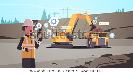Graafmachine ingenieur vector persoon werken Stockfoto © robuart