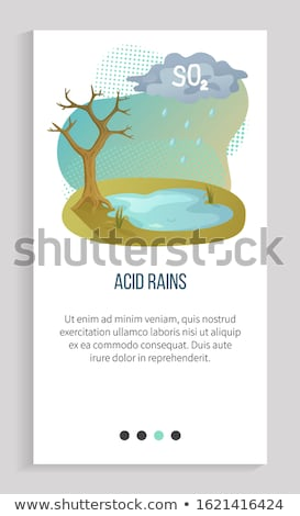 Pollution in Atmosphere, Acid Rain, Recycle App Stock photo © robuart