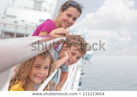 Młodych kobiet syn statek wycieczkowy morze Śródziemne morza Turcja Zdjęcia stock © olira