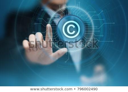 Web dame justitie standbeeld notebook 3d illustration Stockfoto © limbi007