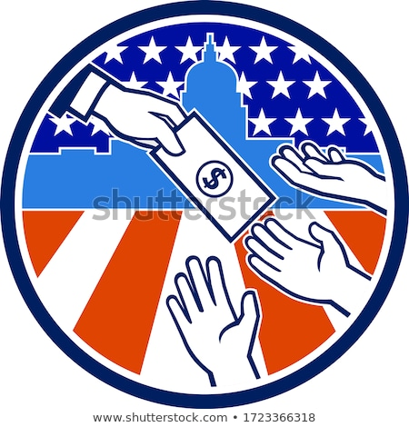 American Stimulus Payment Package Icon Retro Stock photo © patrimonio