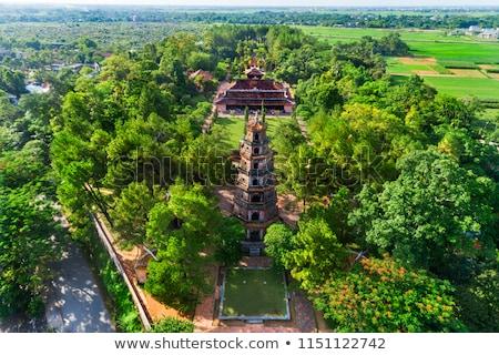 Pagode Vietnam zomer dag hemel gebouw Stockfoto © bloodua