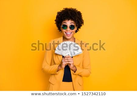 удивительный красивая женщина деньги фотография молодые Сток-фото © deandrobot