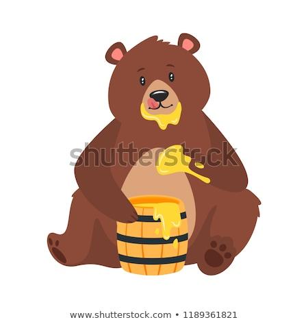 Brown Bear Eat Sweet Honey Foto d'archivio © curiosity