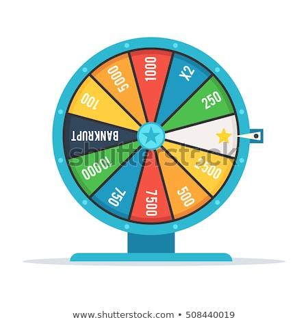 Wheel of fortune with winning numbers and sector bankrupt and bonus, flat style illustration Stock photo © robuart