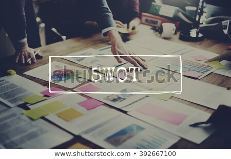 swot analysis with note papers stock photo © ansonstock