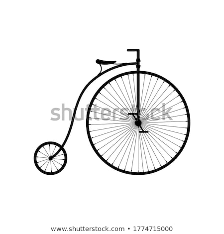 Old fashioned bicycle Stock photo © joyr