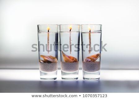 drie · aroma · kaarsen · aromatisch · glas · brand - stockfoto © fotografci