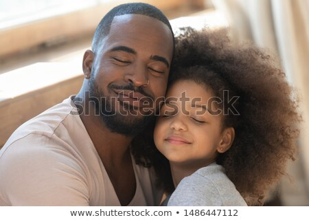 Child touches the father for face Stock photo © Paha_L