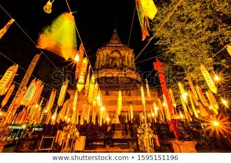 Cena noturna antigo lanterna Tailândia luz rua Foto stock © beemanja