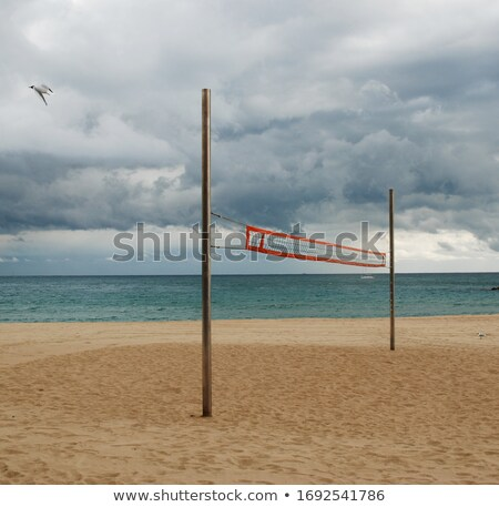 Stock photo: stormy volleyball