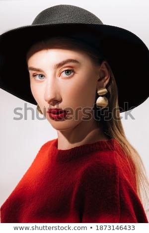 Geïsoleerd borst rood licht Open zwarte illustratie Stockfoto © Onyshchenko