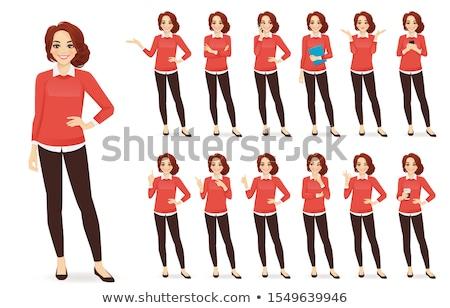 nő · bemutat · póz · vonzó · divat · valami - stock fotó © rognar
