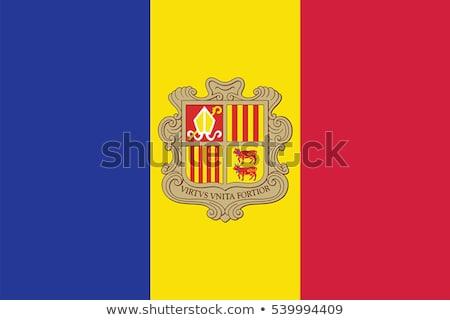 Bayrak Andorra semboller imzalamak model alev Stok fotoğraf © tsalko