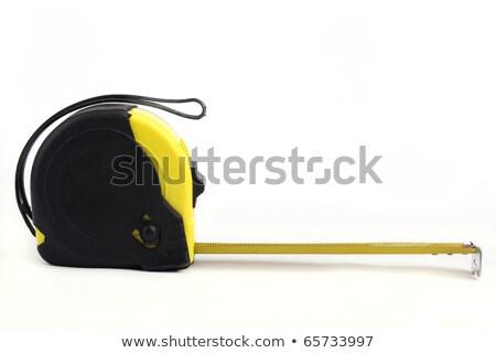 黒 巻き尺 黄色 センチ 金属 テープ ストックフォト © RuslanOmega
