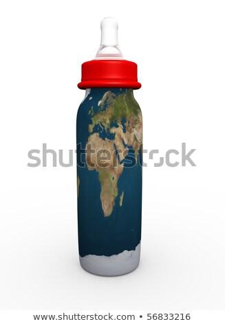 ヨーロッパ アフリカ 中東 ミルク ボトル 説明する ストックフォト © chlhii1