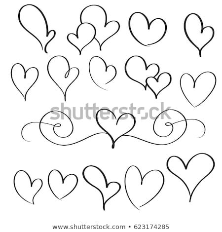 lovely border with cupids hearts and floral pattern stock photo © damonshuck