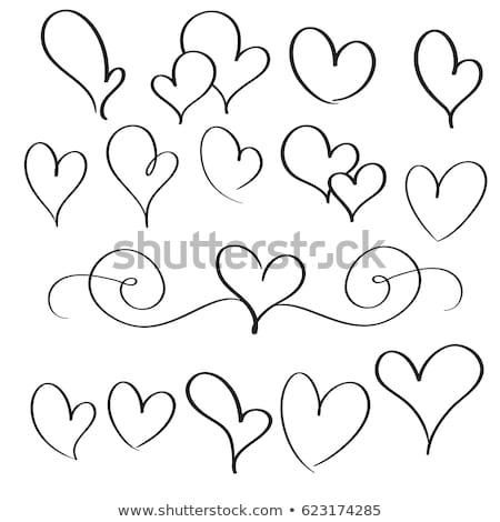 Sınır kalpler model vektör desen Stok fotoğraf © damonshuck