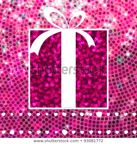 Valentine Gift over glitter mosaic. EPS 8 Stock photo © beholdereye