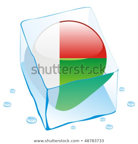 Евросоюз · кнопки · флаг · заморожены · Ice · Cube - Сток-фото © pilgrimartworks