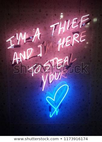 Neon mektup m ayrıntılı dört renkler Stok fotoğraf © creisinger