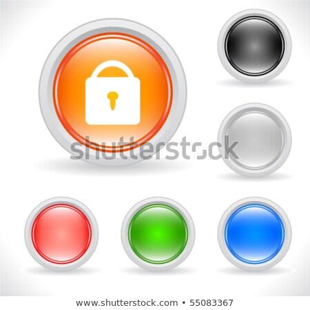 abstrato · azul · trancar · ícone · luz - foto stock © pathakdesigner