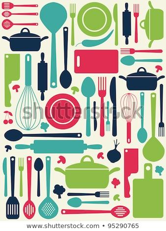 Cuillère couteau fourche icône menu Photo stock © Hermione