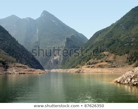 rock formation at River Shennong Xi Stock photo © prill