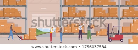 Woman surrounded by cardboard boxes Stock photo © photography33
