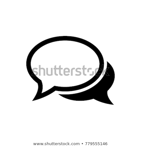Stock photo: Speech bubbles for live chat