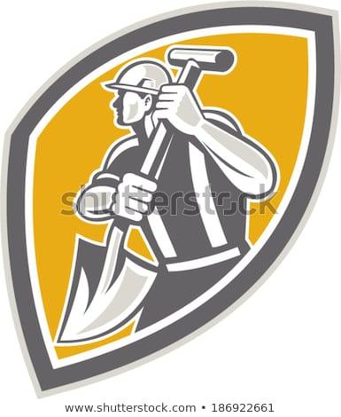 tradesman using a spade stock photo © photography33