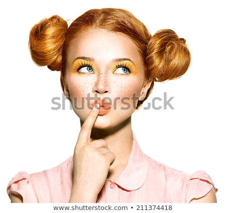 Girl with fingers in mouth Stock photo © photography33