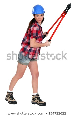 woman wearing shorts holding bolt-cutters Stock photo © photography33