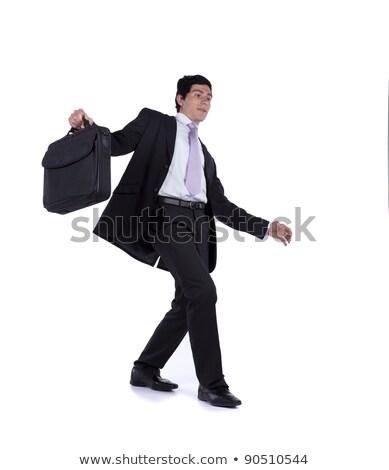 деловой · человек · замедлять · ходьбе · страхом · падение · изолированный - Сток-фото © feedough