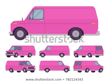 Medium size city car vector illustration Stock photo © lkeskinen