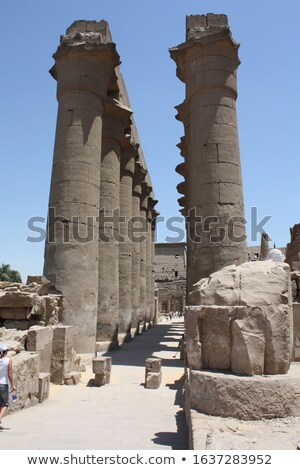 Karnak Columns Stock photo © Aikon
