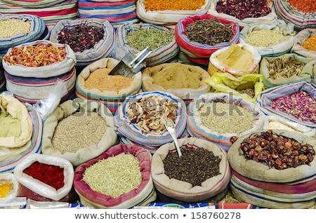 Specerijen midden oosten markt Cairo Egypte Stockfoto © travelphotography