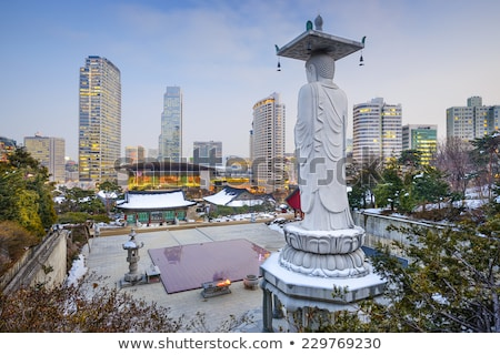 traditional sculpture in seoul south korea stock photo © travelphotography