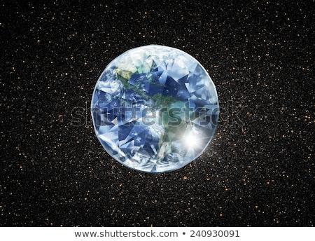 Diamant planetă lume dragoste modă lumina Imagine de stoc © mariephoto