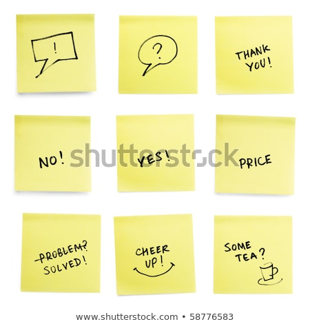 Yellow sticky papers with trendy slogans.  Stock photo © pashabo