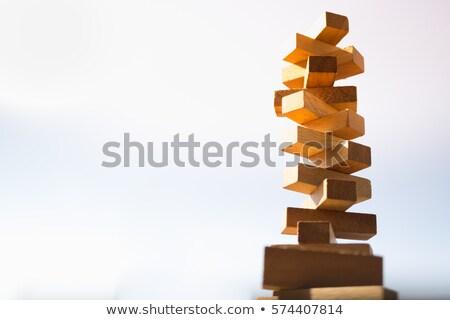 Tilted Brick Stack Stock photo © emattil