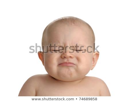 Gyerekek szemtől szembe lány gyerekek zöld mérges Stock fotó © photography33