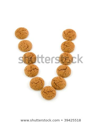 Foto stock: Ginger Nuts Pepernoten In The Shape Of Letter V