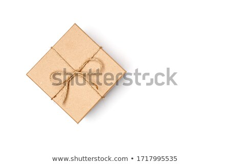 Pacote papel pardo isolado branco textura fundo Foto stock © inxti