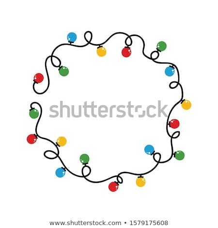 feestelijk · lichten · cirkels · christmas · Blauw · roze - stockfoto © deyangeorgiev