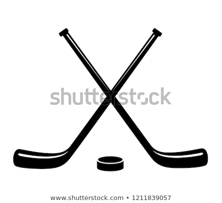 Ice hockey sticks and puck Stock photo © kjpargeter