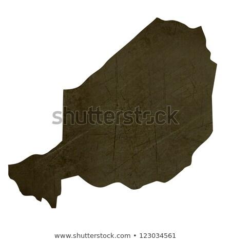 темно карта Нигер изолированный белый Сток-фото © speedfighter